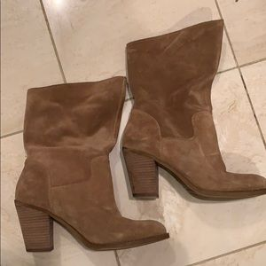 Lucky Brand Tan Suede Boots